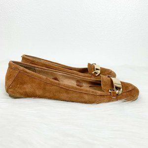 Aldo 7.5 Tan Suede Flat Slip On Loafer Casual Shoe